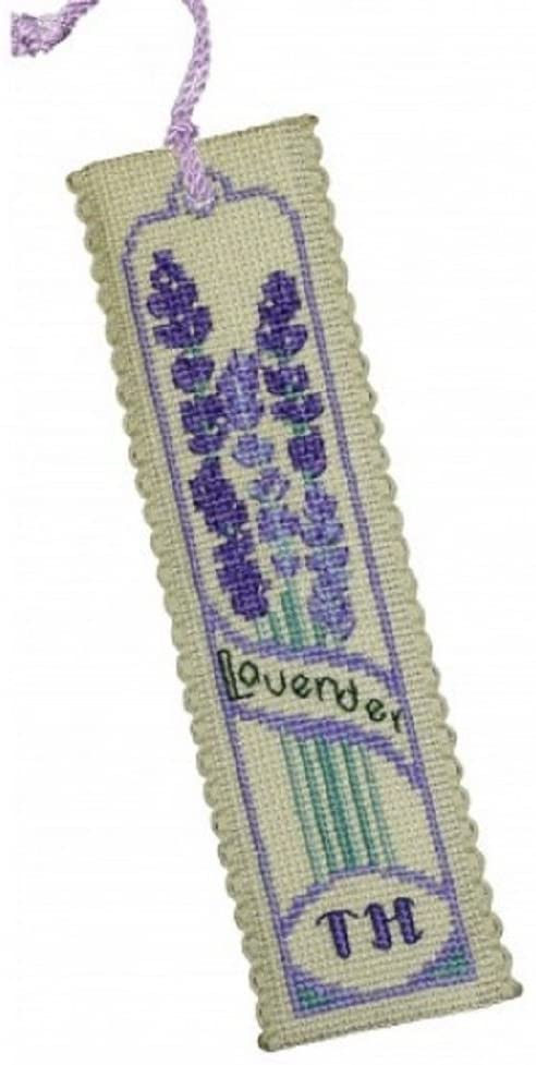 Textile Heritage Counted Cross Stitch Bookmark Kit - Lavender