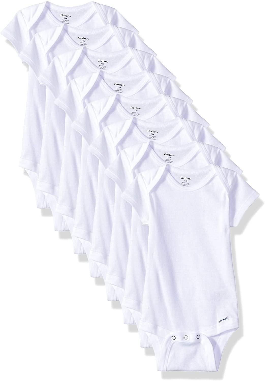 Gerber Baby 8-Pack Short Sleeve Onesies Bodysuits