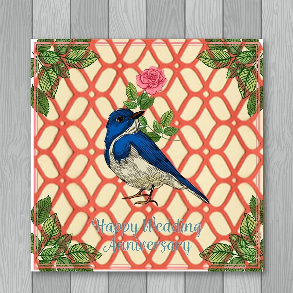 LZBRDY 4.6 by 4.6 Inch Square Flower Net Embossing Frame Dies for Card Making Scrapbooking Album Decor Metal Cutting Dies Birthday Christmas Invitation Die Cuts