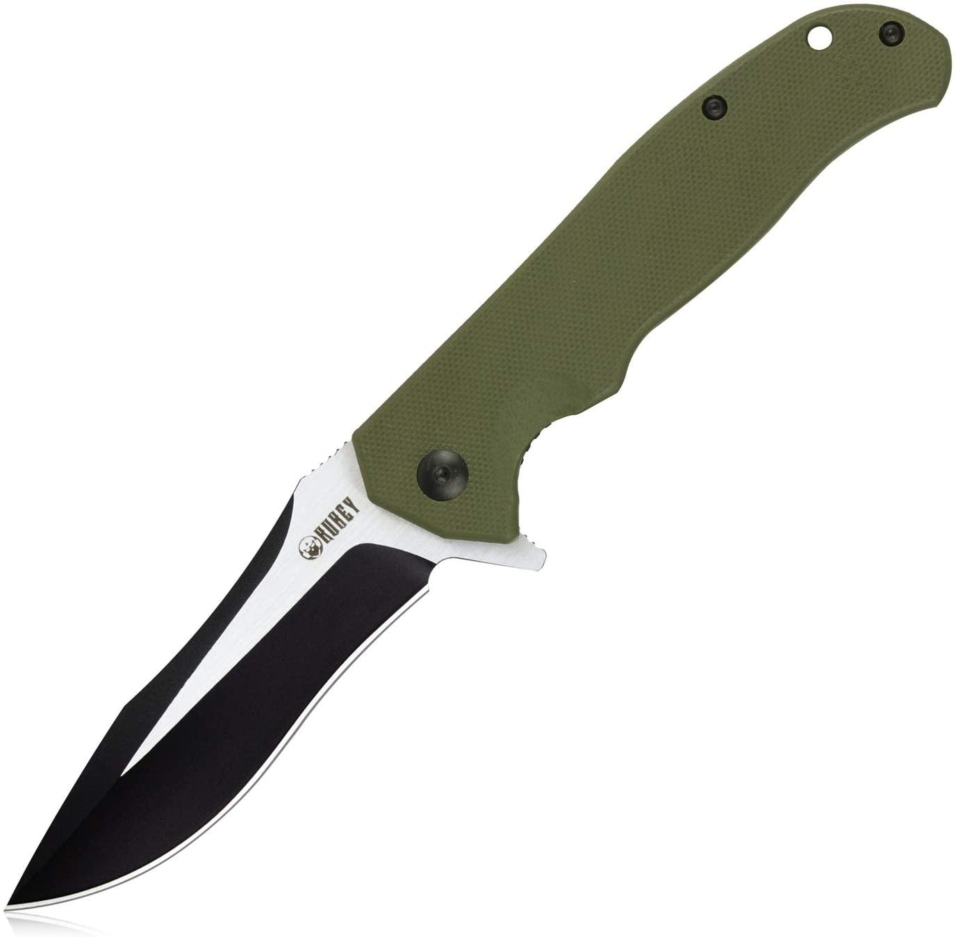 KUBEY Hero KU162 Folding Pocket Knife, G10 Handle and 3.5