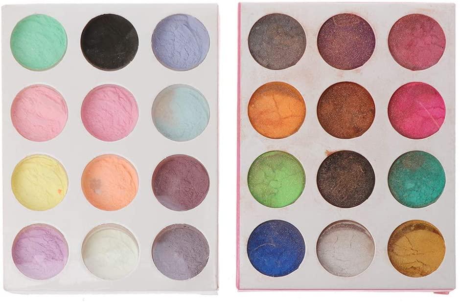 minansostey Fluorescent Glow-in-The-Dark Powder & Pearl Pigment Set Resin Jewelry DIY Craft