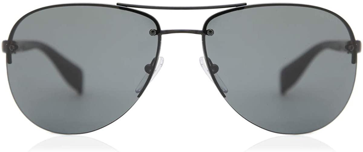 Prada Sport PS56MS 1BO1A1 Black PS56MS Pilot Sunglasses Lens Category 3 Size 65