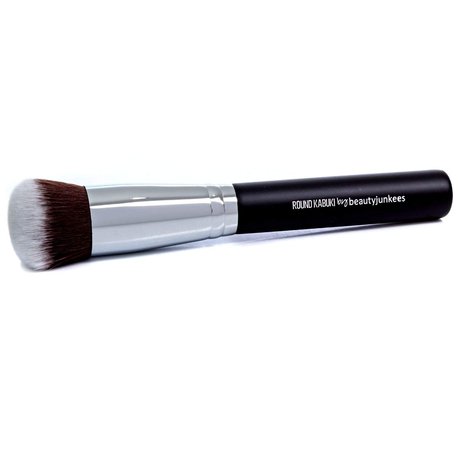 Mineral Powder Foundation Makeup Brush: Round Top Kabuki, Soft Dense Synthetic Bristles for Applying Loose Compact Pressed Translucent Minerals, Setting, Finishing, Buffing Liquid, Cream, Cruelty Free
