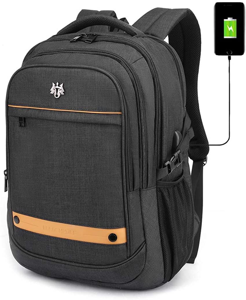 Men Laptop Backpack 15.6 Inch, with USB Charging Port Business Travel Backpack for Men College School Computer Backpack