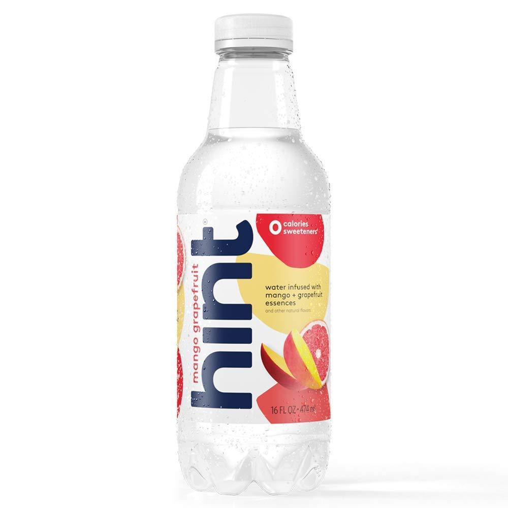 Hint Water Mango-Grapefruit, (Pack of 12) 16 Ounce Bottles, Pure Water Infused with Mango and Grapefruit, Zero Sugar, Zero Calories, Zero Sweeteners, Zero Preservatives, Zero Artificial Flavors
