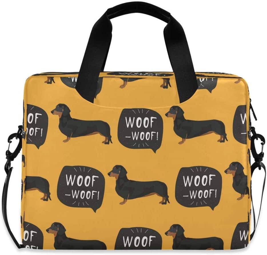 YKMUSTwin Funny Cool Pet Dog 13-15.6 Inch Laptop Shoulder Messenger Bag Laptop Case Sleeve with Strap Computer Briefcase for Women Men Boy Girls
