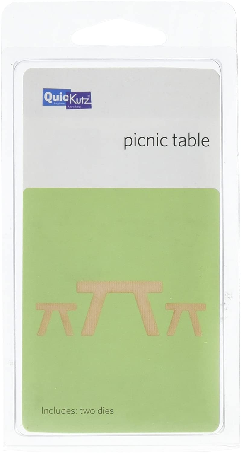 QUICKUTZ We R Memory Keepers 2-Inch by 2-Inch Die, Picnic Table