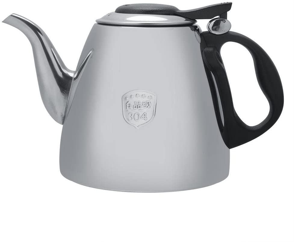 Stainless Steel Teapot - 1.2L/1.5L Stainless Steel Stove-top Teapot Tea Coffee Pot Kettle Heat Resistant Handle(1.2L)