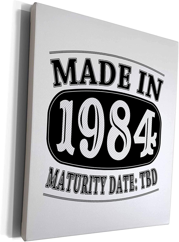 3dRose Janna Salak Designs Humor - Made in 1984 - Maturity Date TDB - Museum Grade Canvas Wrap (cw_212525_1)