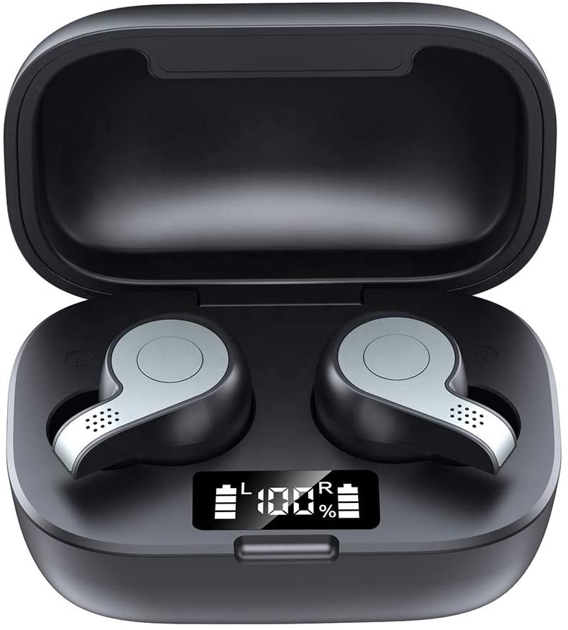 Bluetooth 5.0 Mini Earbuds, Type C Charging case, led Battery Display