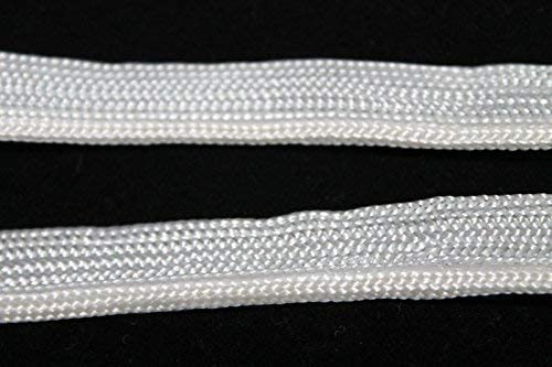 Trimming Shop 5 Meters Shiny Piping Cord with 9mm Insertion Tap - Satin Bias Tape Welting Bind 5 Meters X 9Mm White