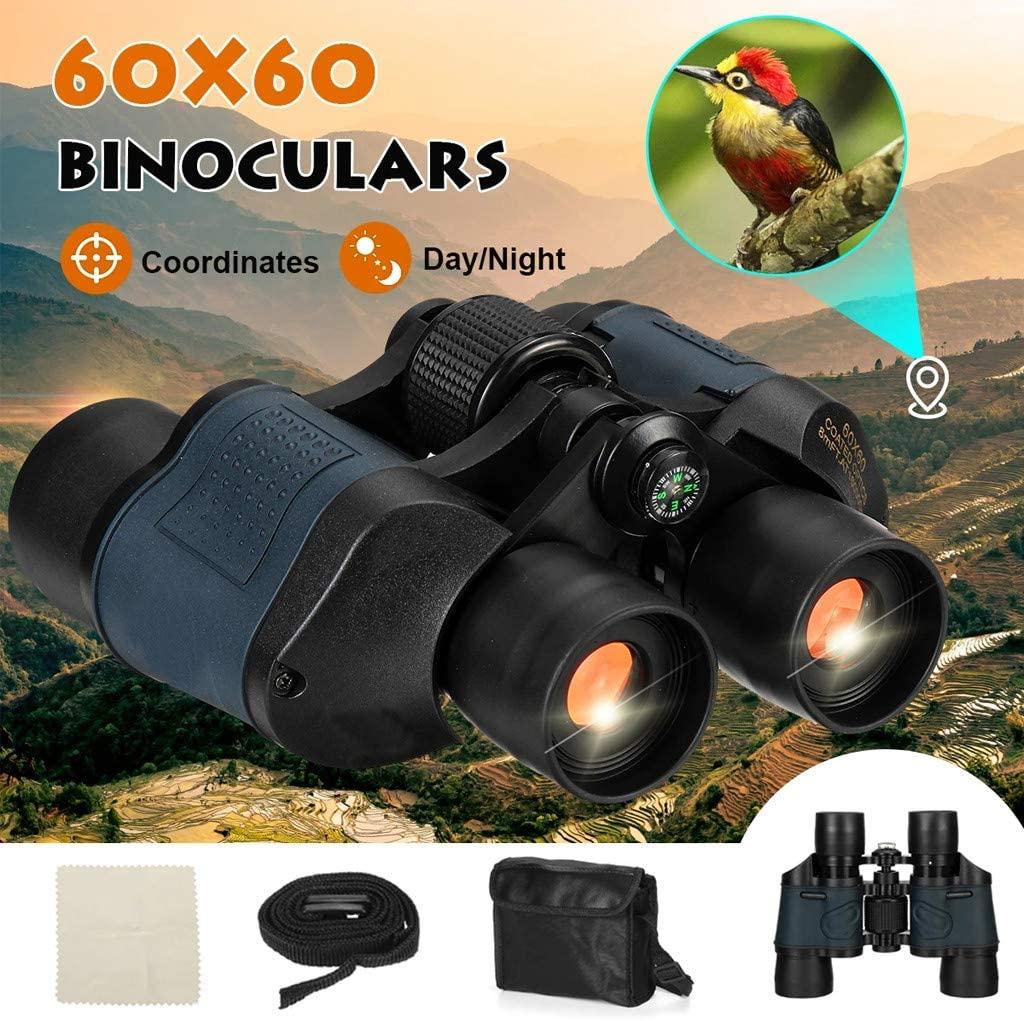 OKBOP Binoculars for Adults, 60X60 Zoom Binoculars with Night Vision and Day, Waterproof Lightweight HD Compact Binocular for Bird Watching Hunting Traveling