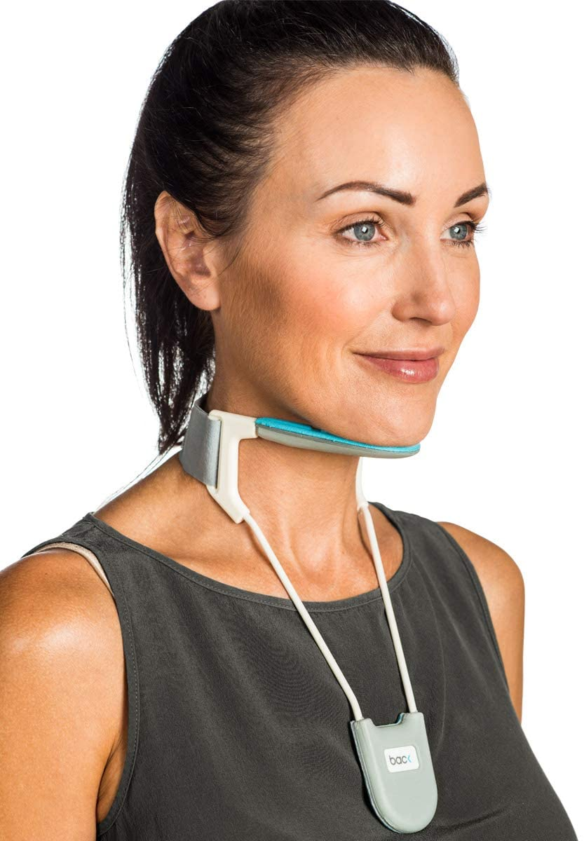 BackPainHelp Neck Brace, a Revolutionary Cervical Collar That Provides Light Support While Being Breathable, Cool and Lightweight (Blue Medium)