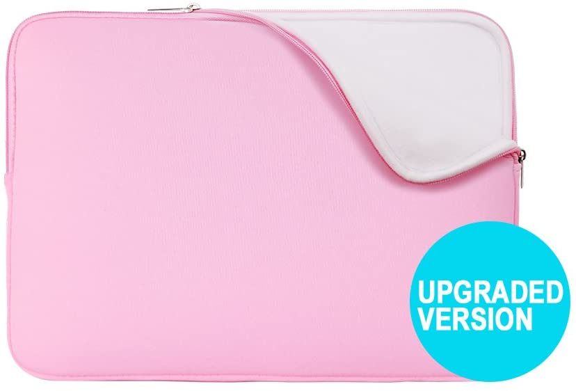 RAINYEAR 13 Inch Laptop Sleeve Protective Case Padded Bag Specially Compatible with 2019 2020 New Model 13.3 MacBook Air/Pro/Retina/Touch Bar A1932 A1706 A1708 A2159 A2179(Pink,Upgraded Version)