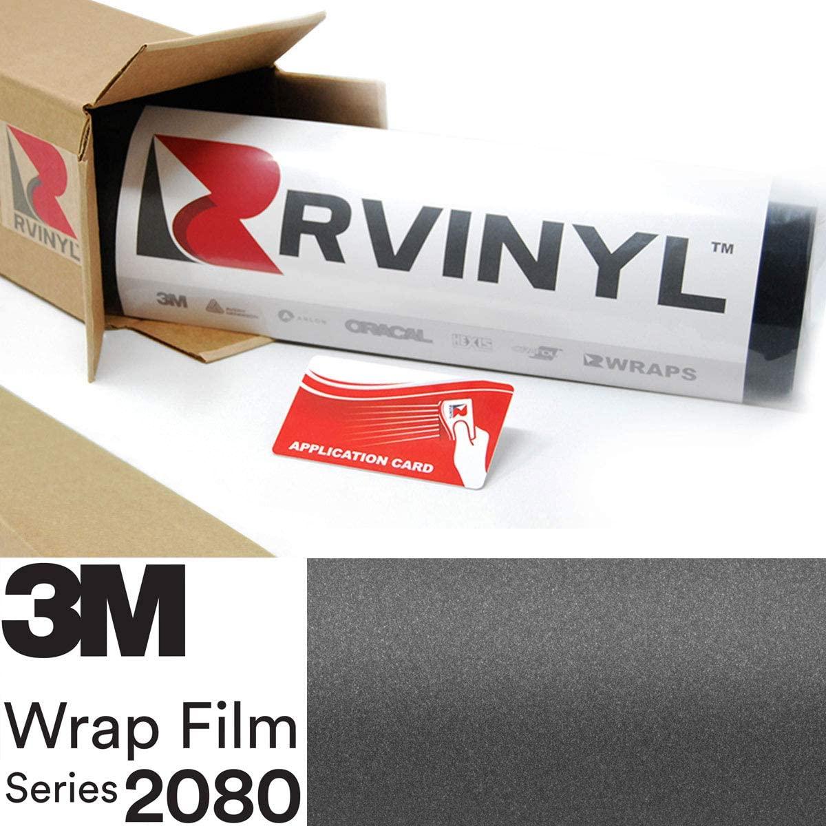 3M 2080 S261 Satin Dark Gray 5ft x 5ft W/Application Card Vinyl Vehicle Car Wrap Film Sheet Roll