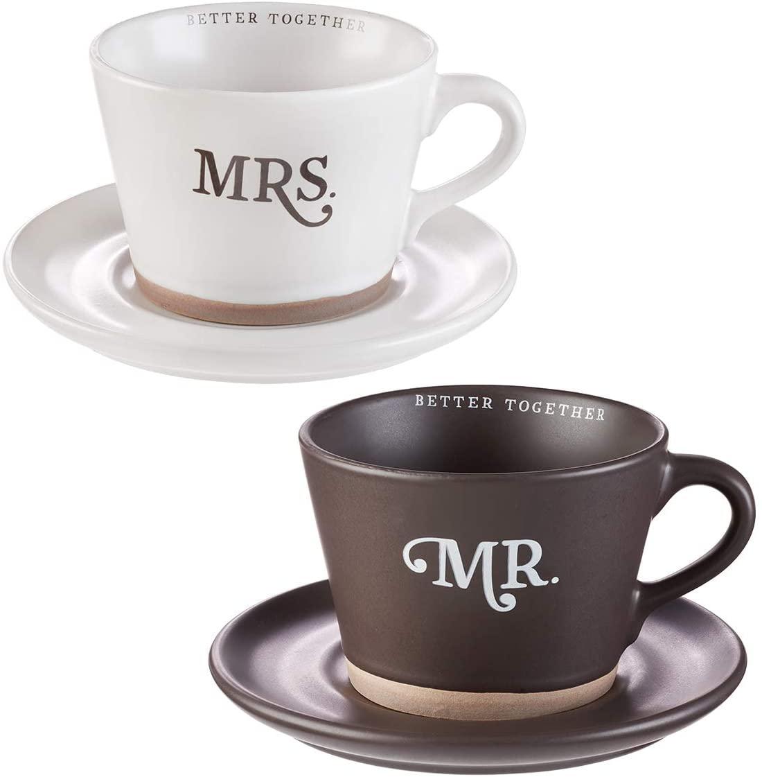 Better Together - Mr. & Mrs. Coffee Mug & Saucer Set, Better Together Collection
