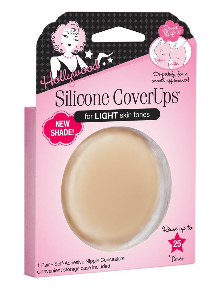 Hollywood Fashion Secrets Silicone Nipple Coverups, Light Shade, 1 pair