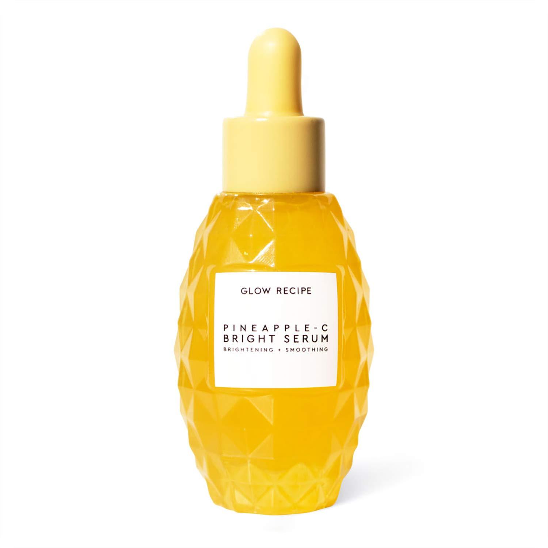 Glow Recipe Pineapple-C Bright Serum - Brightening + Exfoliating Face Serum with 3 Forms of Vitamin C, Hyaluronic Acid, Vitamin E + Aloe - Paraben Free + Vegan Skincare (30ml / 1 fl oz)