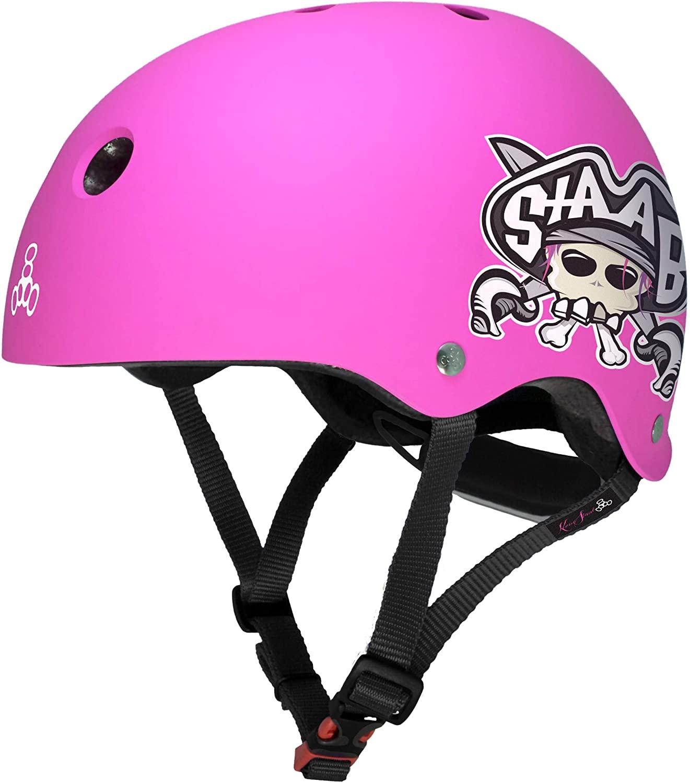 Triple Eight Lil 8 STAAB Dual Certified Sweatsaver Kids Skateboard and Bike Helmet with Padded Chin Buckle