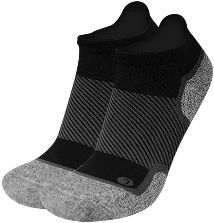 OrthoSleeve WC4 Wellness Socks for Diabetes,Edema,Neuropathy & Circulation (Noshow, Small, Black, 1 Pair)