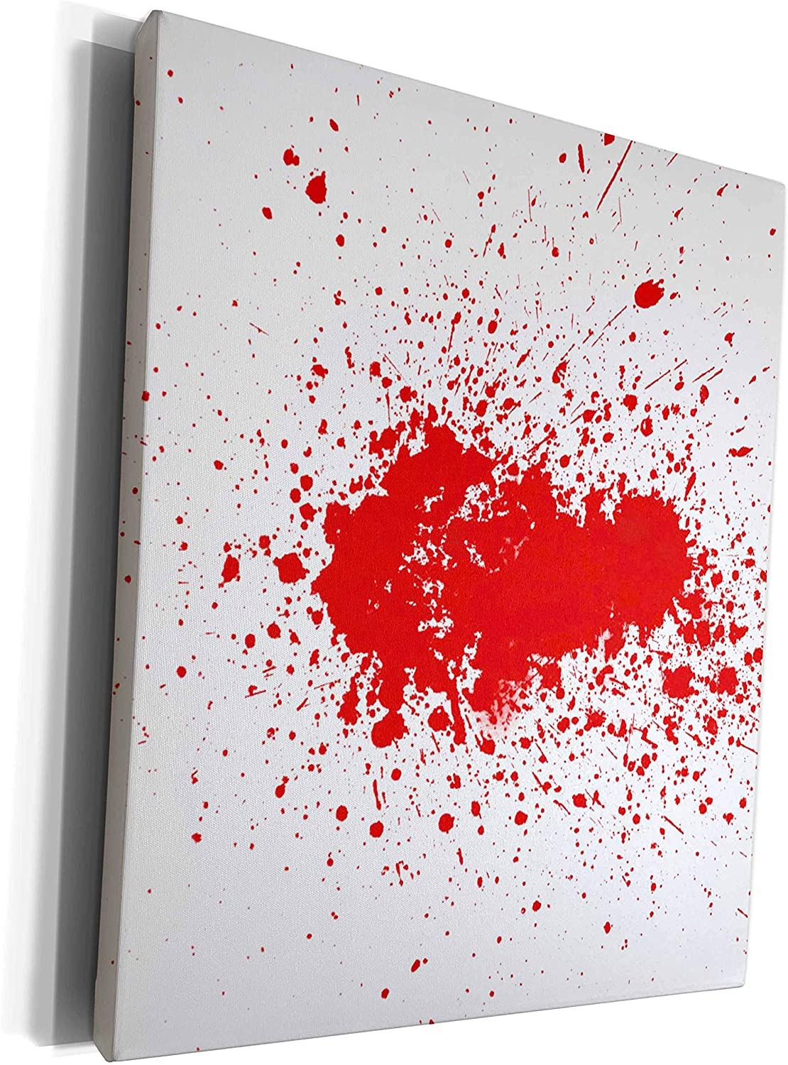 3dRose Xander movie quotes - blood splattered red blood on white background - Museum Grade Canvas Wrap (cw_201871_1)