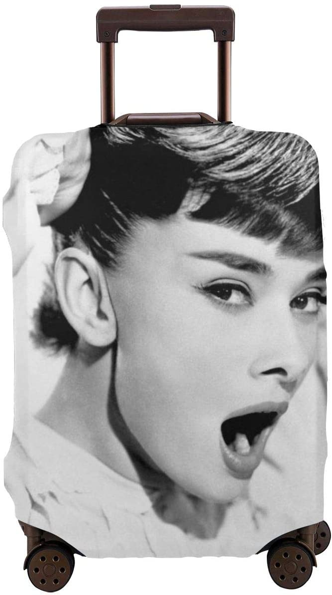 Audrey Hepburn Luggage Covers Travel Suitcase Durable High Elastic Washable Anti-Scratch Suitcase Protector Polyester Fits 29-32 Inch