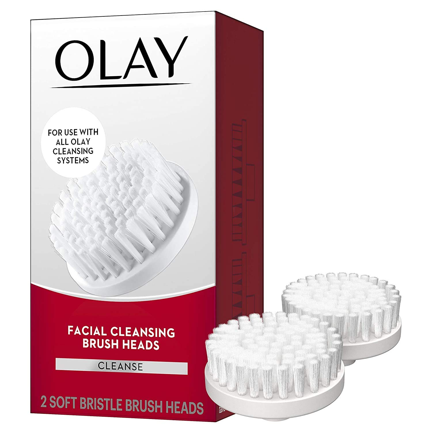 Facial Cleaning Brush by Olay ProX by Olay Advanced Facial Cleansing System Replacement Brush Heads, 2 Count