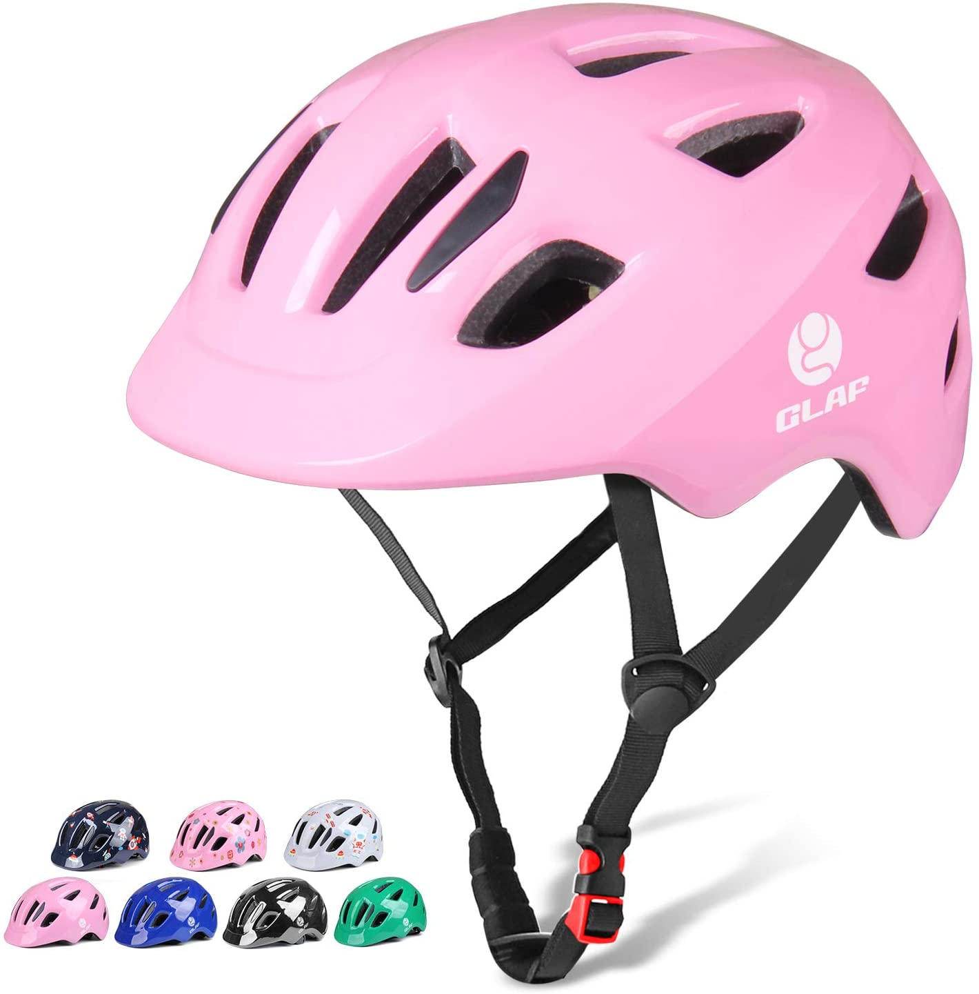 Glaf Toddler Bike Helmet Toddler Helmet Children Multi-Sport Helmet CPSC Certified Impact Resistance Ventilation Adjustable Helmet