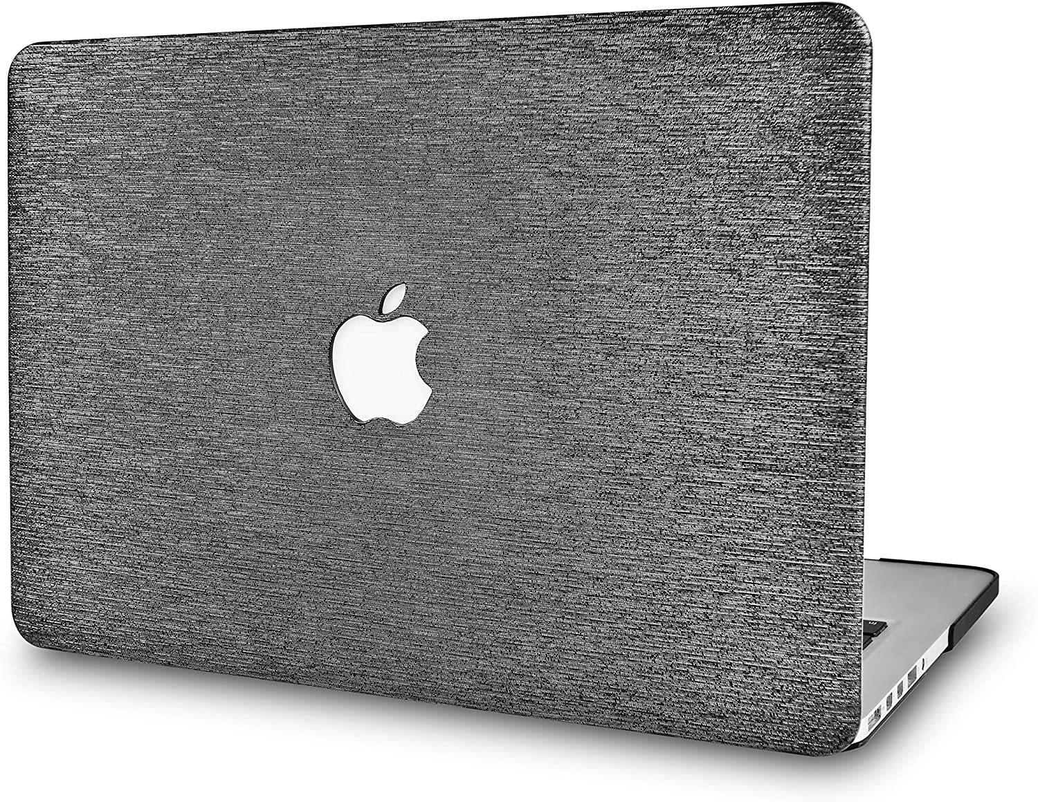 LuvCase Laptop Case for MacBook Pro 16 Touch Bar (2020/2019 Release) A2141 Leather Hard Shell Cover (Silver Grey Leather)