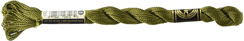 DMC Sz 5 Skein-27.3 yds/Vy Dk Olive Green/730