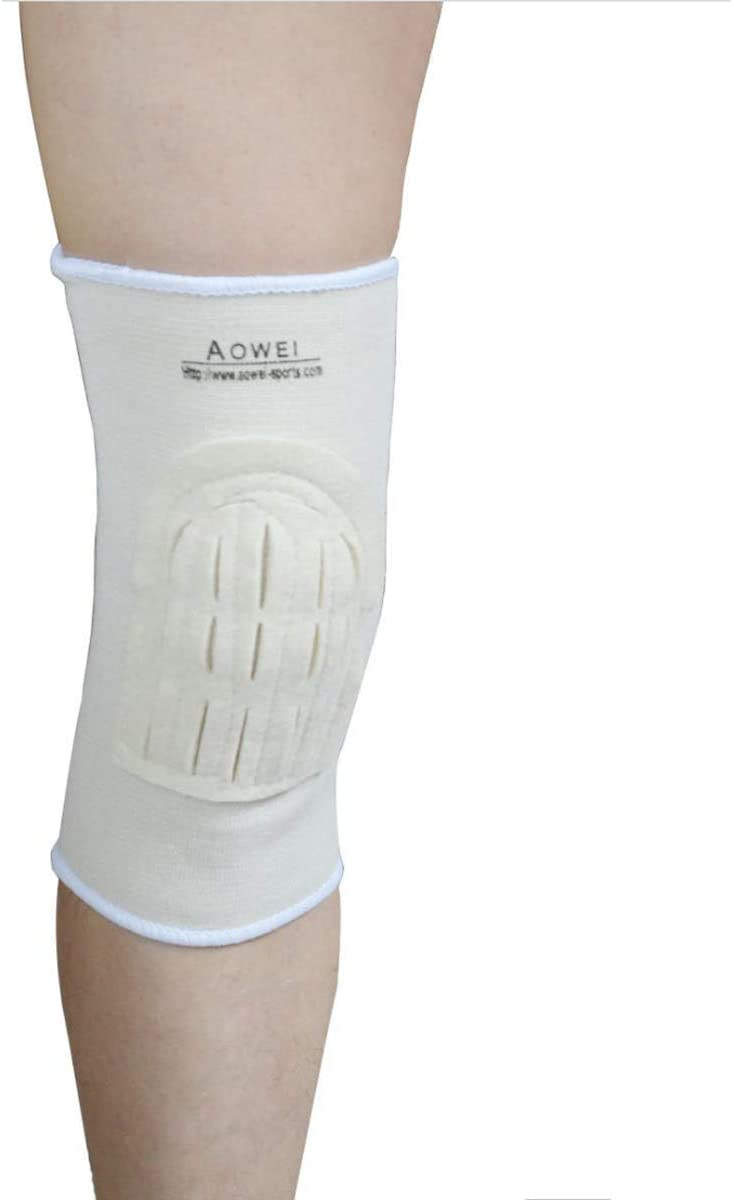 Kangwell Knee Support Brace (2-Pack) | Knee Pad with Open Hole, Suitable for The Middle-Aged and Elderly, Elastic Cotton and Wool Felt, Keep Warm and Safe, Protect Knee, Avoid Injuries