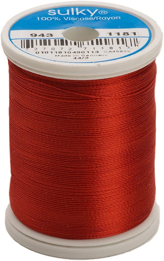 Sulky Of America 268d 40wt 2-Ply Rayon Thread, 850 yd, Rust