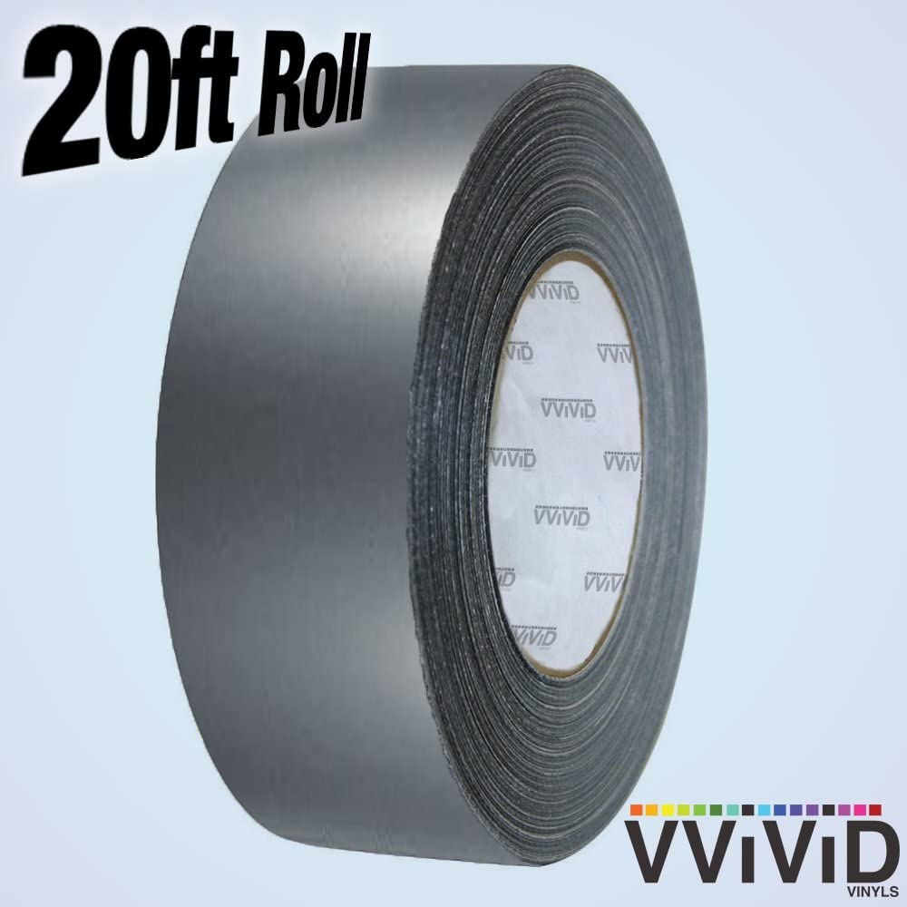 VViViD Matte Vinyl Detailing Wrap Tape 2 Inch x 20ft DIY Roll (Matte Gunmetal Grey)