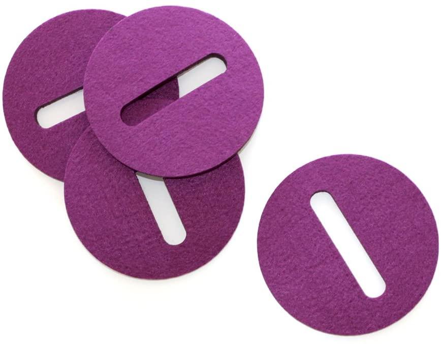 Sempli Cupa Stay Purple Wine & Liquor Glasses Coasters, Set of 4 by Sempli