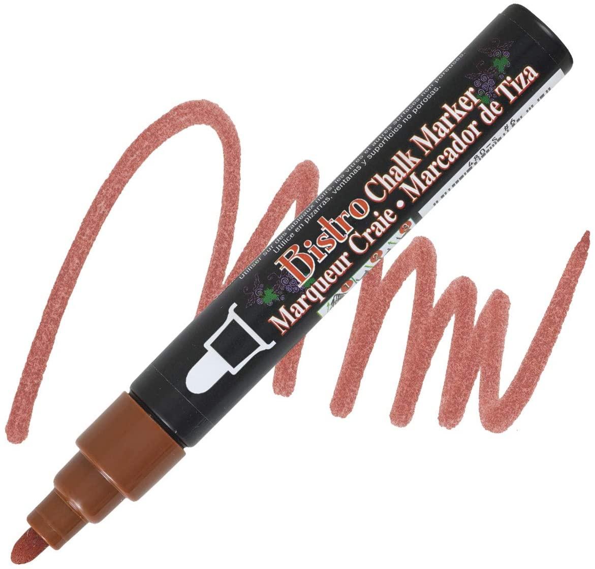 Uchida Bistro Water-based Chalk Markers-Bistro Chalk Marker,6mm Tip,Erasable,Water-based,Brown