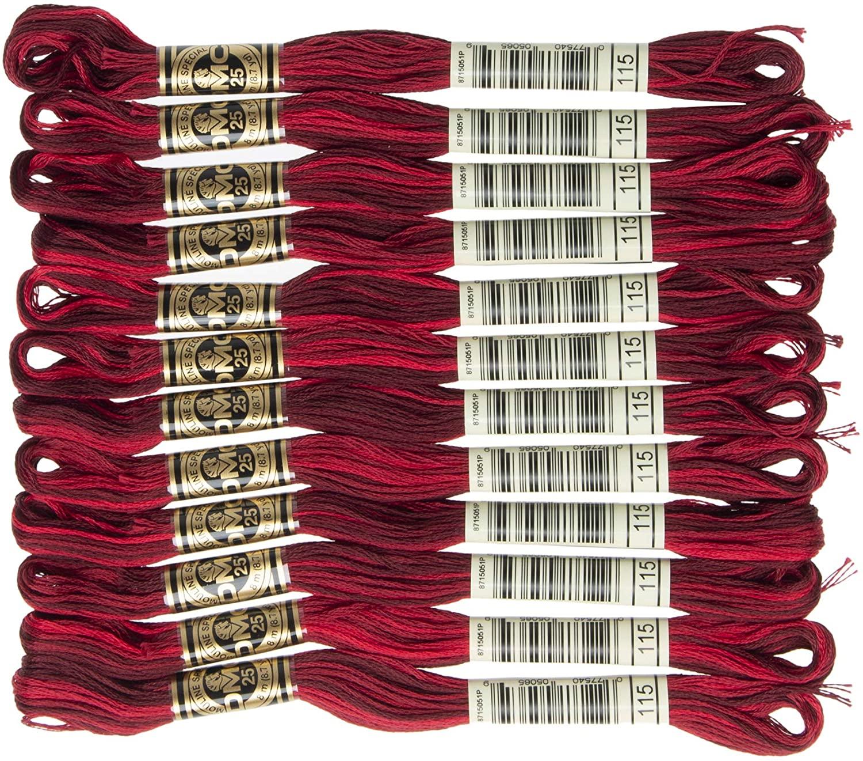DMC 6-Strand Embroidery Cotton Floss, Variegated Garnet