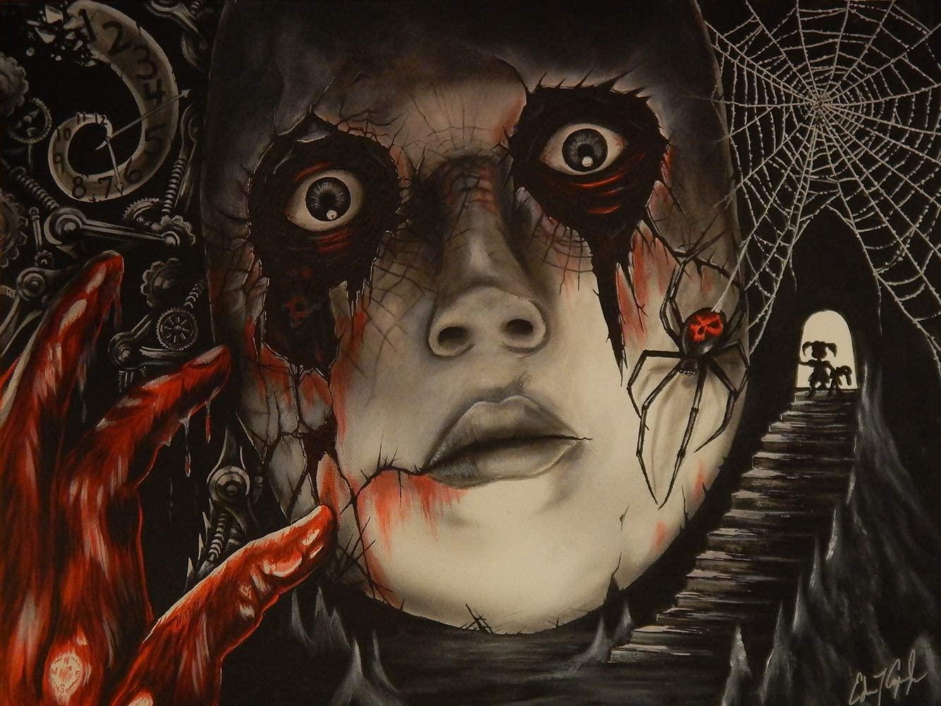 Buyartforless Maskby Ed Capeau 32x24 Graphic Art Canvas, Black