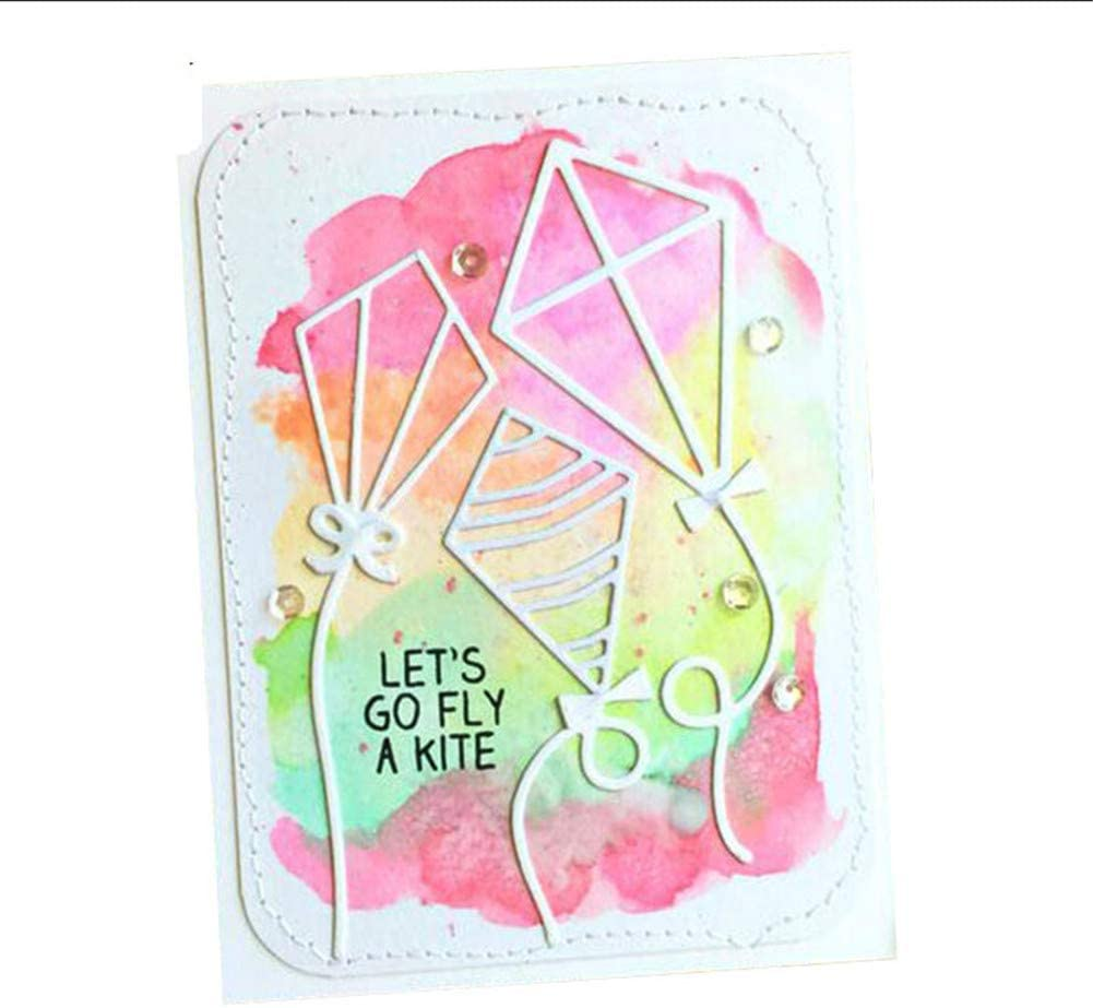 1 Pack Kite Metal Cutting Dies 3.7 by 3.7 Inch Kids Craft Die Cuts for Card Making and Scrapbooking Christmas Cutting Dies