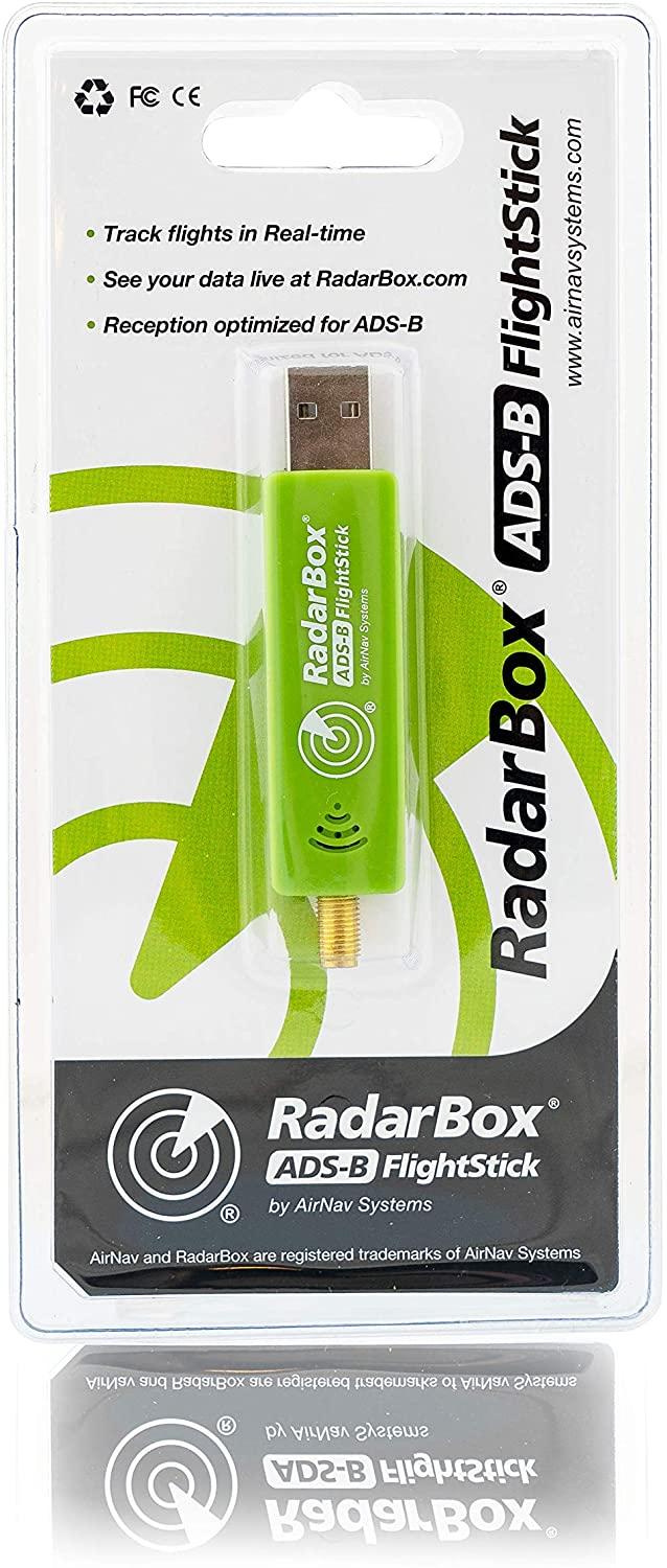 AirNav RadarBox FlightStick - ADS-B USB Receiver with Integrated Filter, Amplifier and ESD Protection