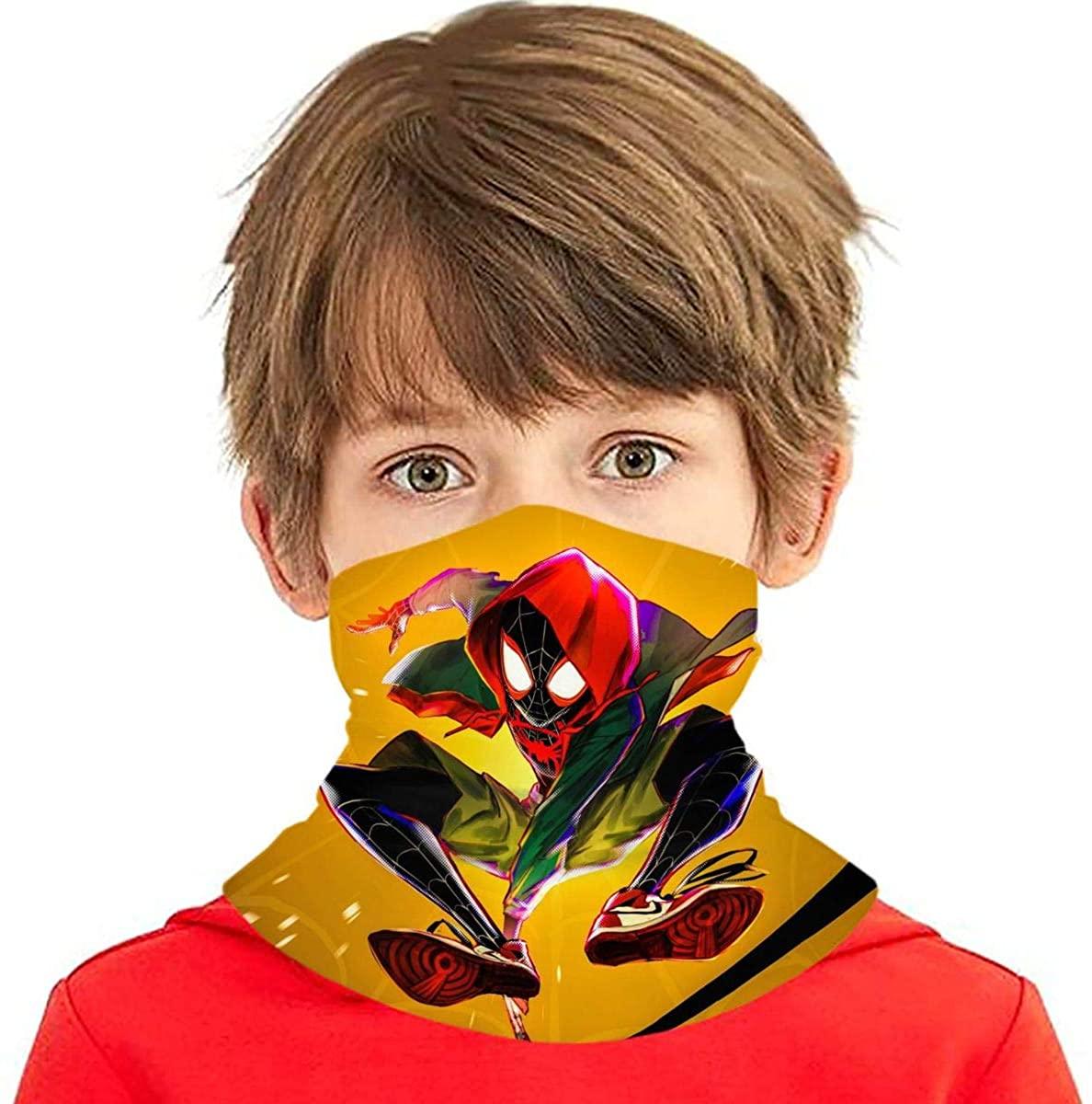3D Super Hero 6-14 Years Bandana Neck Gaiter Balaclava Half Face Protective Mask for Boys Girls