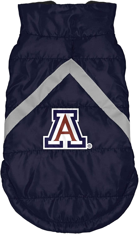 Littlearth NCAA Arizona Wildcats Soft Fleece Lined Pet Puffer Vest