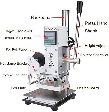 Hot foil Stamp Machine Digital Display for Leathers, Book, Paper, Wood, and Bamboo (Hot Foil Paper Special for Leather)