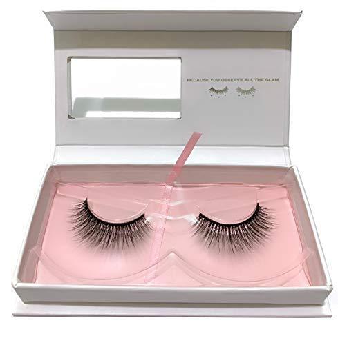 Samthi Beauty Eyelashes – 3D Synthetic Lashes – Style Baru – Handmade Natural Reusable Vegan Lash Strip - Add Length, Volume & Seduction – Cruelty Free – Up to 20 Wears - 1 Pair