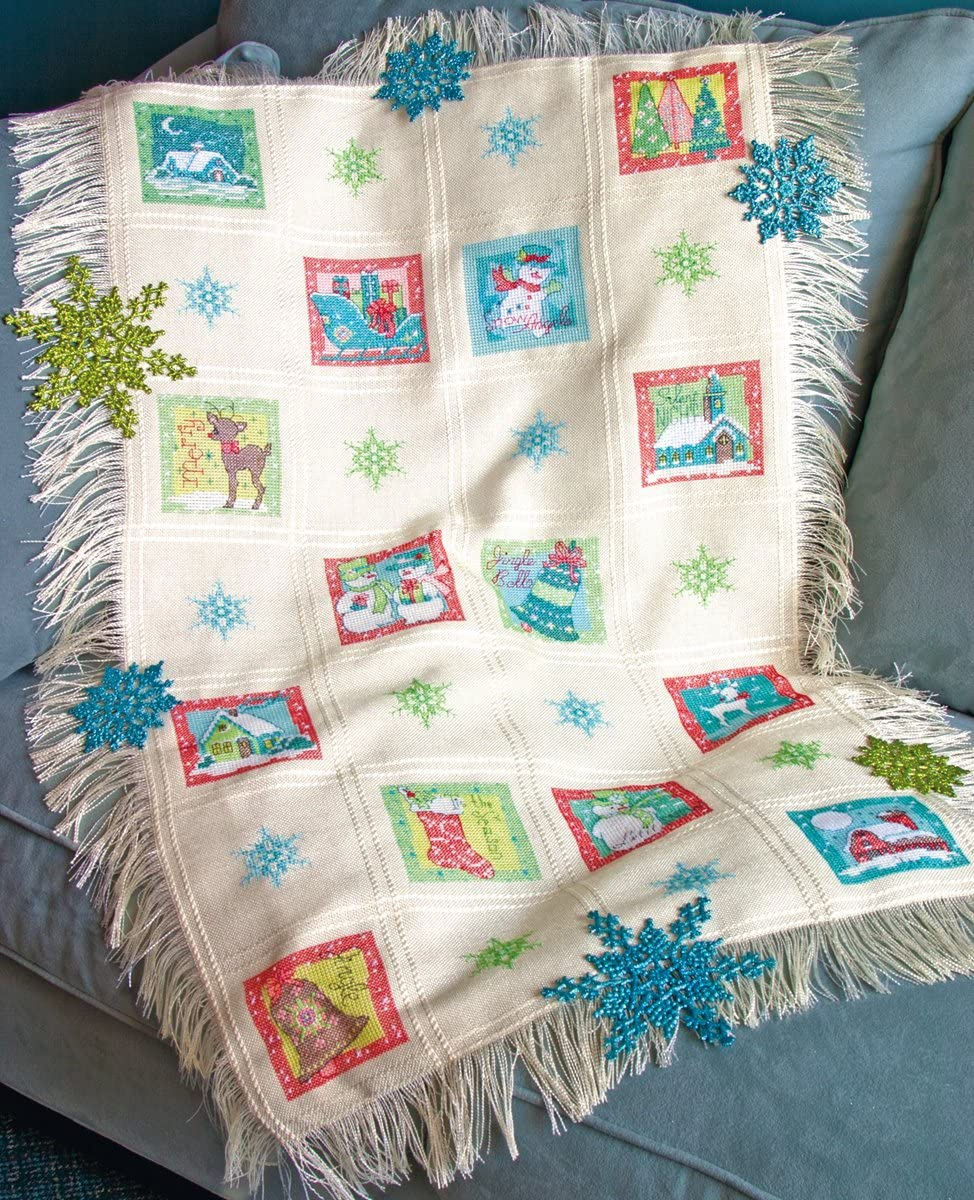 Swell Noel Afghan Counted Cross Stitch Kit- 18 Ct
