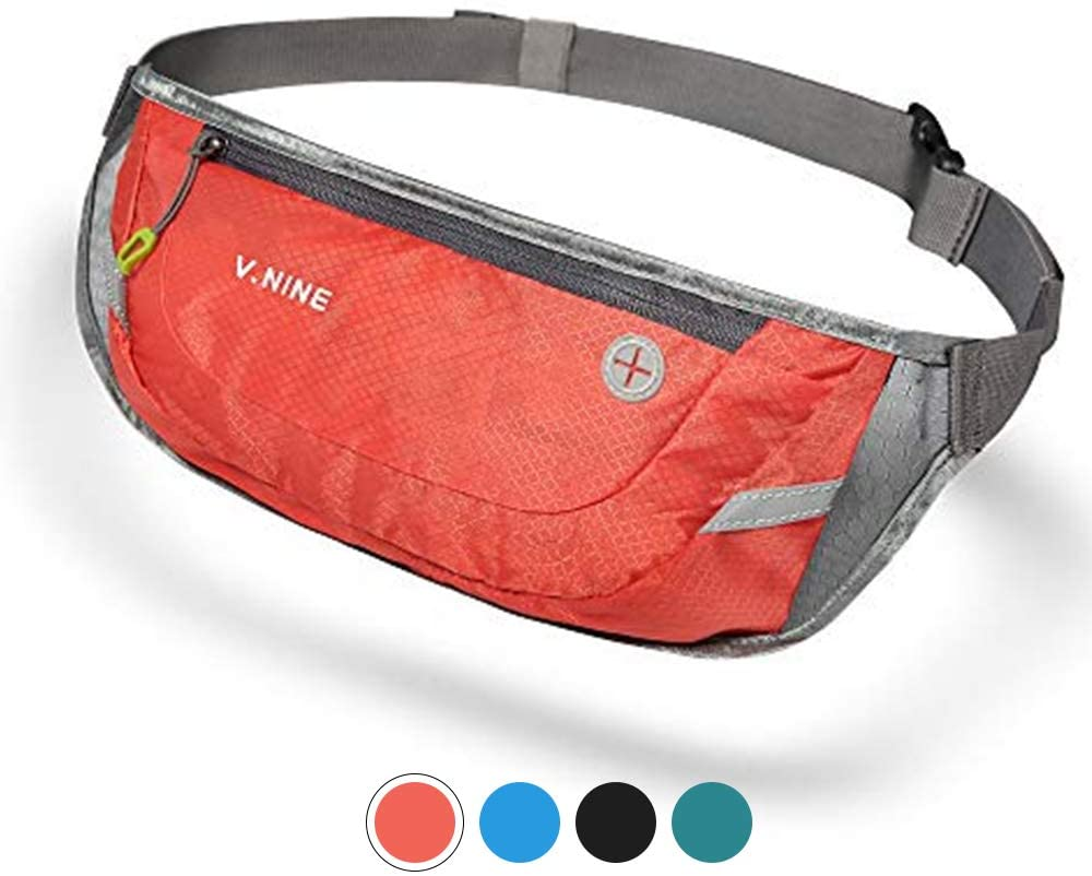 V.NINE Waist Pack for Women Men Running Belt Sport Fanny Pack for Gym Marathon Cycling
