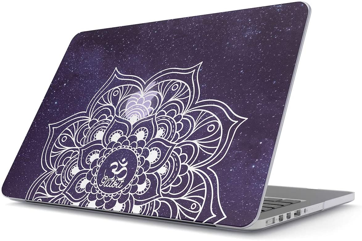 Glitbit Hard Case Cover Combatible with MacBook 12 Inch Case Model: A1534 (Release-2015/2016 / 2017) with Retina Display Mandala Namaste Zentangle Zen Pattern Cosmic Galaxy Stars Space