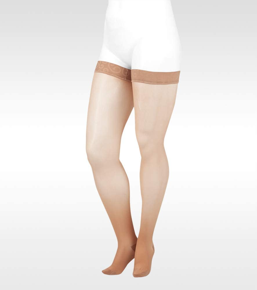 Naturally Sheer 2101ag 20-30mmhg Thigh-High Closed Toe Compression Stockings