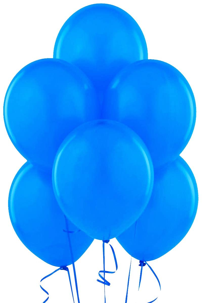 Classic Blue 12 Inch Latex Balloons 144 Pack Thickened Extra Strong for Baby Shower Garland Wedding Photo Booth Birthday Party Supplies Arch Decoration Engagement Anniversary Christmas Festival