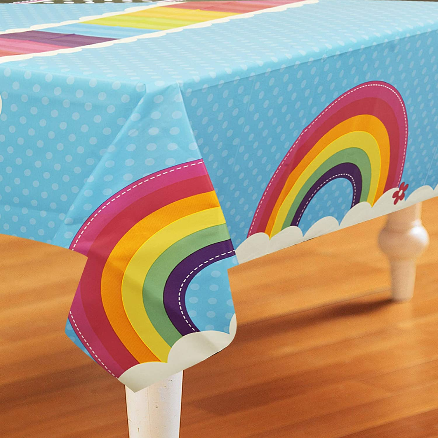 Party Destination 228979 Rainbow Wishes Plastic Tablecover