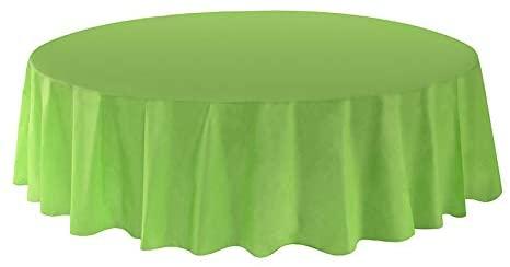 Allgala 144-Pack Bulk Case Lot Premium Plastic Table Cover Medium Weight Disposable Tablecloth-Round 84